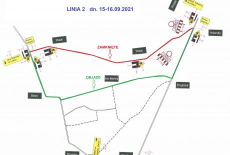 objazd mapa
